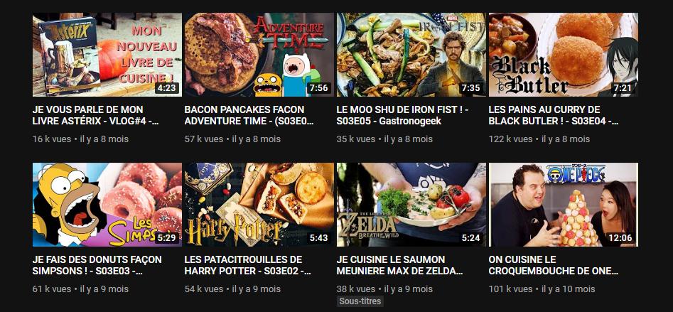vidéo de Gastronogeek