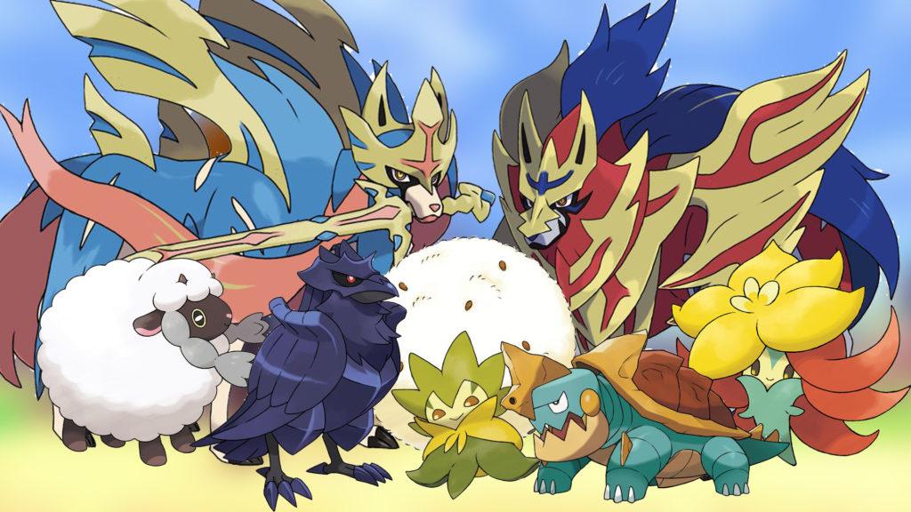 Nouveau Pokémon et Zacian et Zamazenta