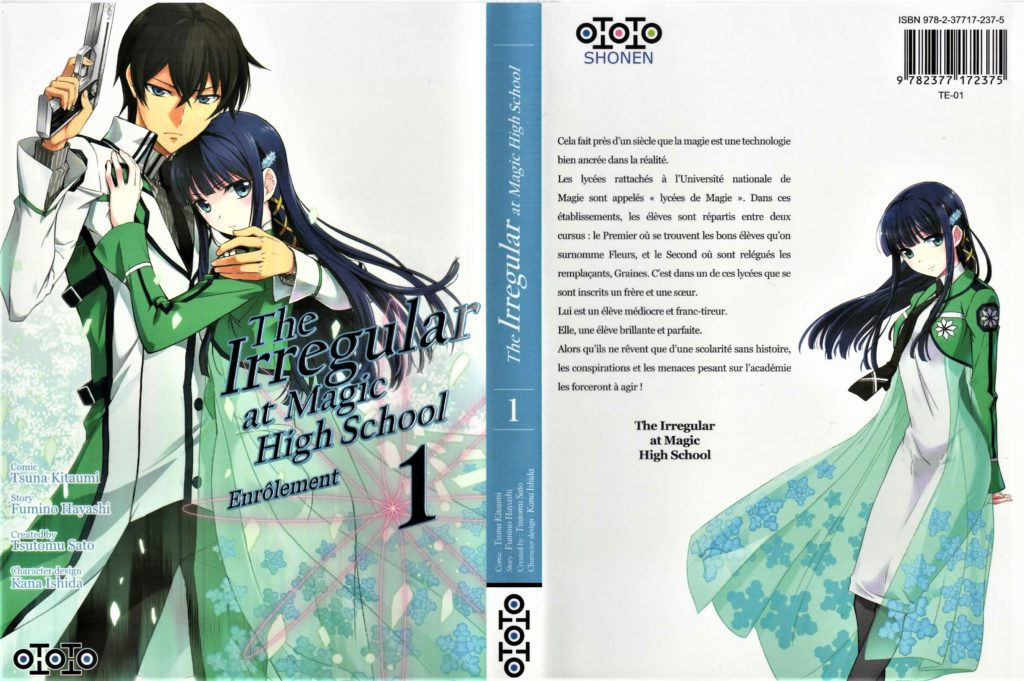 Couvertures de The Irregular At Magic Hisghschool tome 1