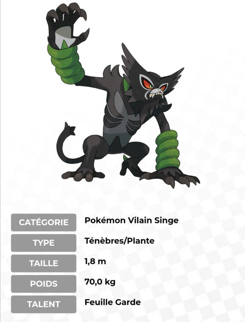 Descriptif Zarude le nouveau Pokémon fabuleux
