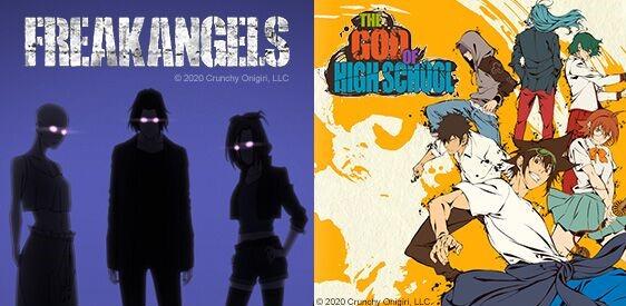 Crunchyroll Originals: Freakangels et The God of Highschool
