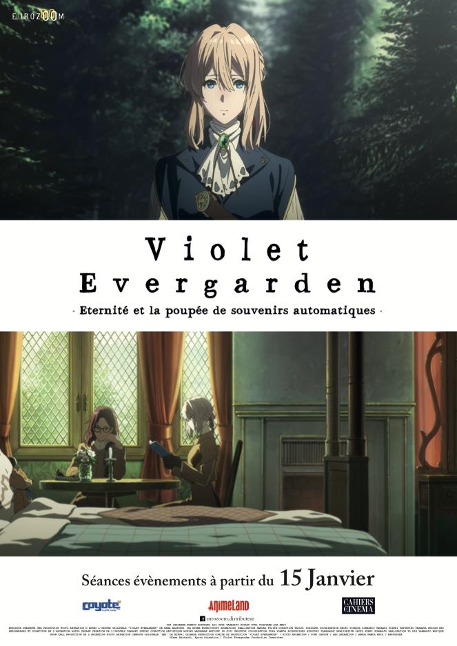 Affiche promotionnelle sortie française Violet Evergarden Éternité et la poupée de souvenirs automatiques