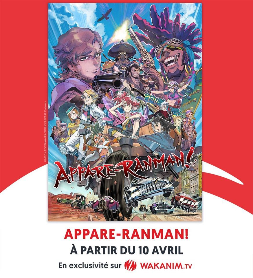 Wakanim annonce Appare-Ranman