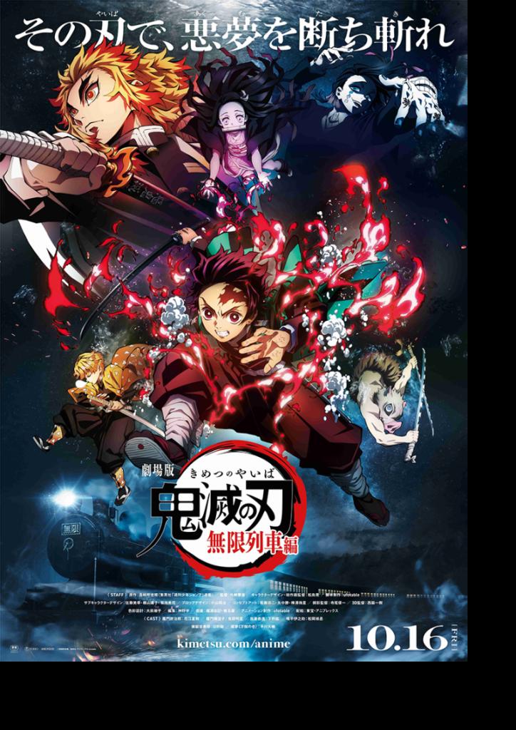 Affiche film Kimetsu no Yaiba Demon Slayer le Train de l'Infini