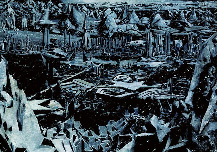 Gou Tanabe illustrant les montagnes hallucinées