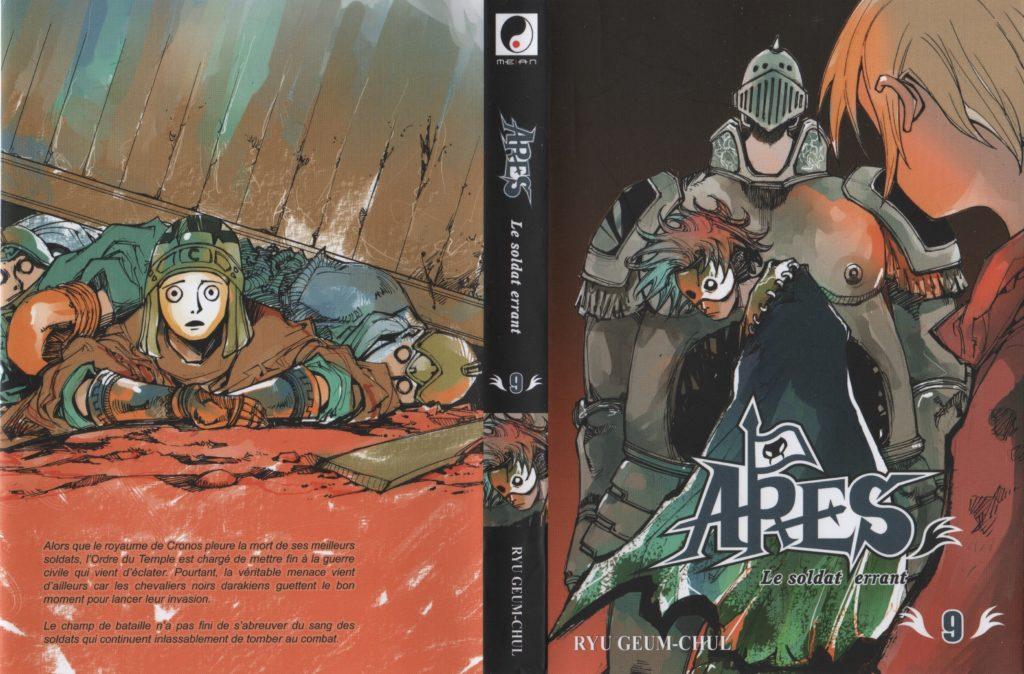 Jaquette du tome 9 d'Arès Meian Editions La conquête du Trône de Cronos