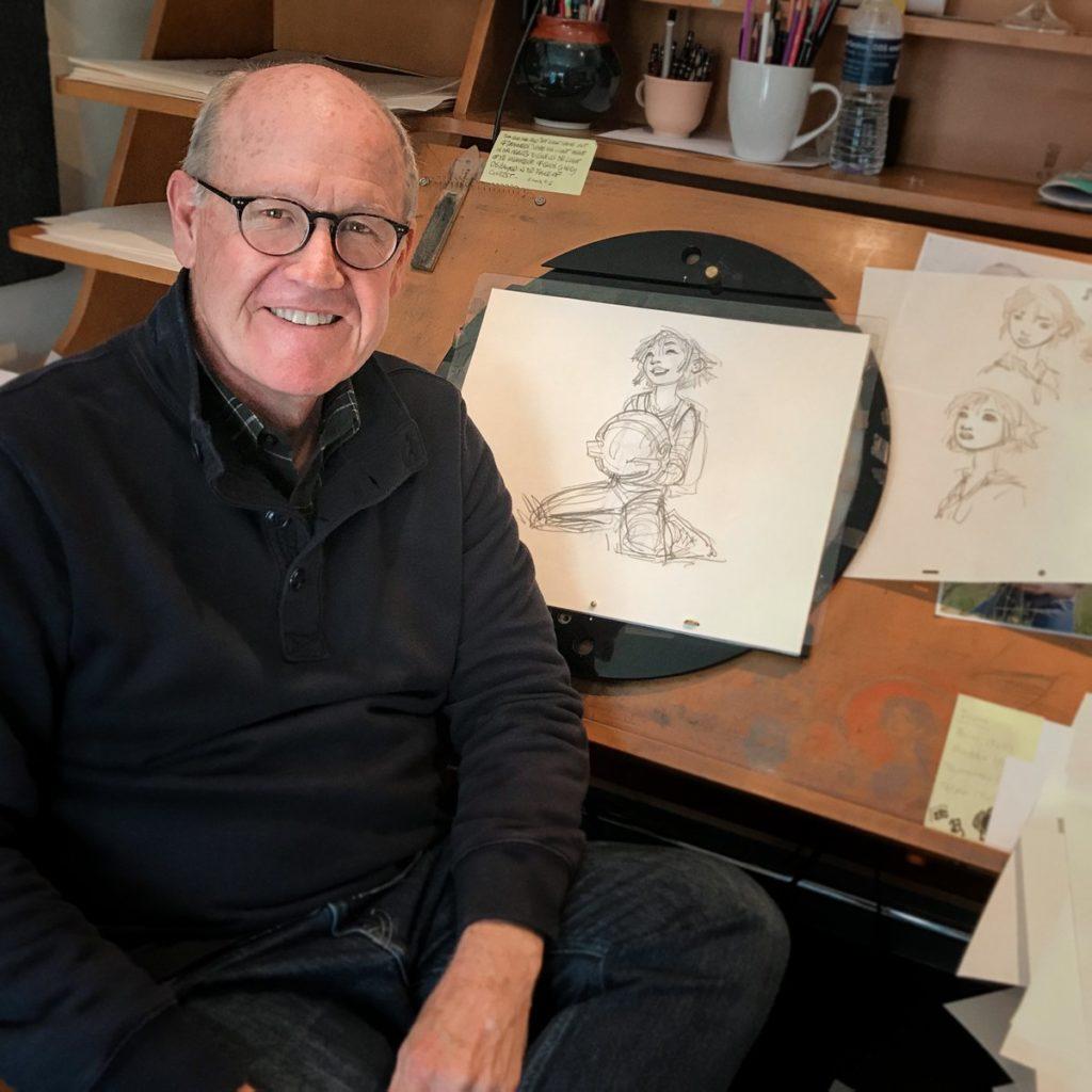 Glen Keane et quelques planches d'Over The Moon Voyage Vers la Lune pour Netflix