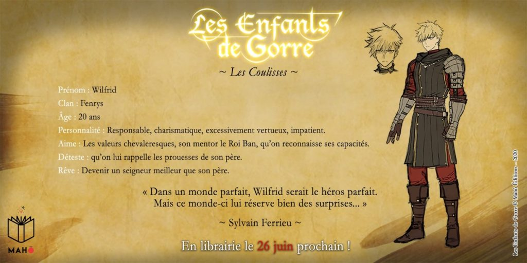 Wilfrid Fenrys Les Enfants de Gorre Mahô Edition Les Trésors du Nain