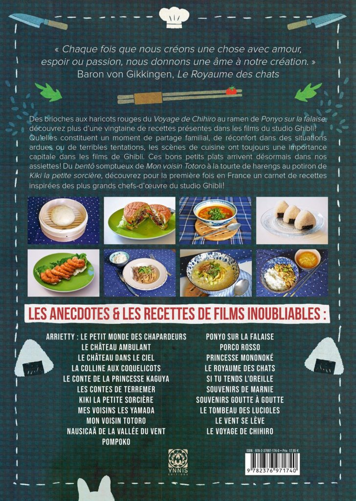 Les recettes des films du studio Ghibli