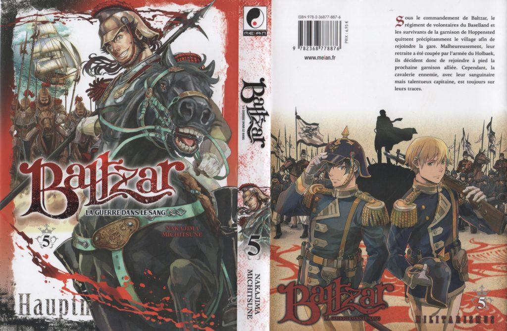 Baltzar la guerre dans le sang tome 5 Les Trésors du Nain Meian Editions Nakajima Michitsune jaquette