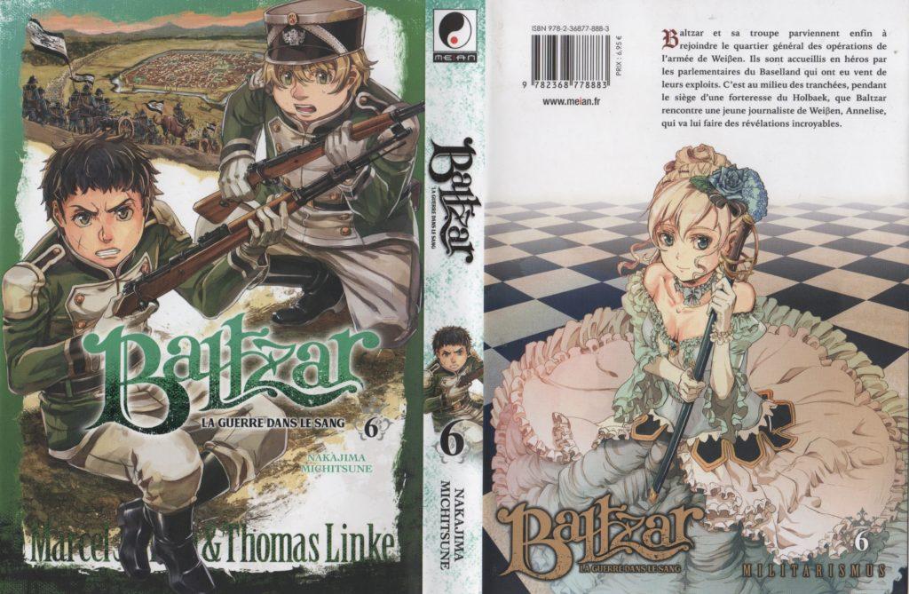 Les Trésors du Nain Baltzar la guerre dans le sang tome 6 Meian Edition Nakajima Michitsune Jaquette