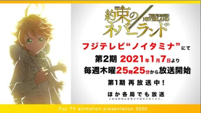 Promised Neverland saison 2 annonce