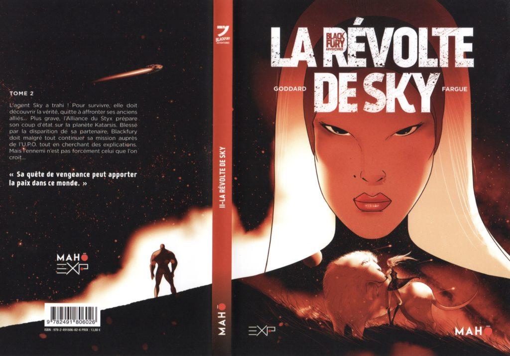 Jaquette Blackfury tome 2 La révolte de sky Mahô Editions Stéphane Goddard Adrien Fargue