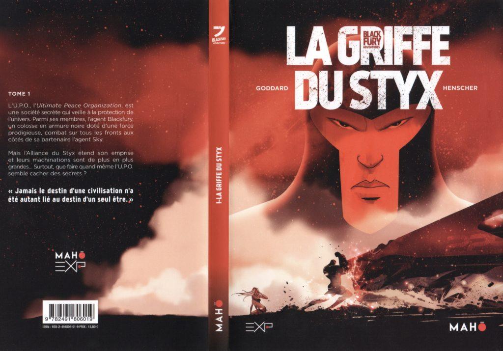 Jaquette tome 1 Black Fury La Griffe du Styx Maho Edition