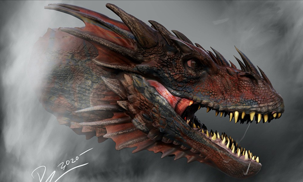 Caraxès Daemon Targaryen Dragon House of Dragon Artwork