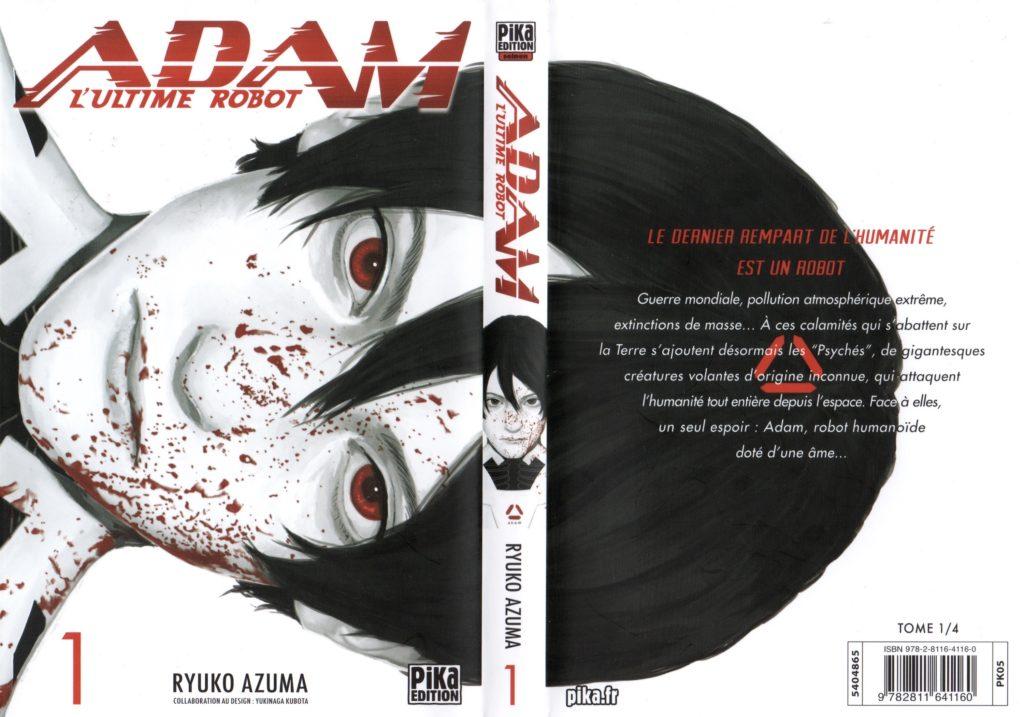 Jaquette Les Trésors du Nain Adam L'ultime Robot Tetsuwan Adam Ryuko Azuma Tome 1 Pika edition