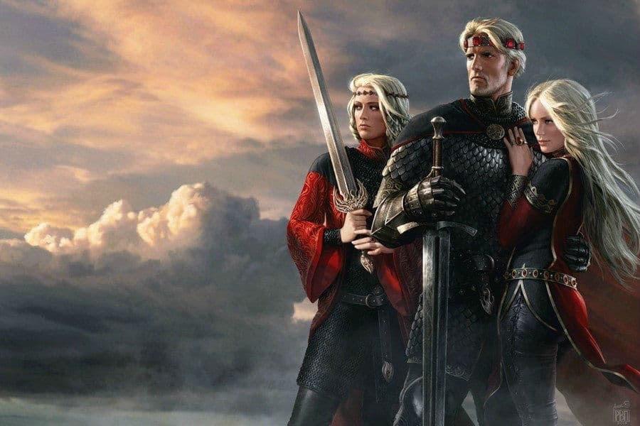 Amok Game of Thrones Aegon Visenya Rhaenys Targaryen House of Dragons