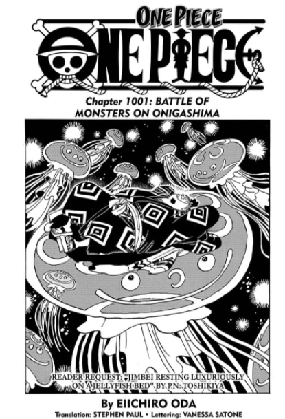 Chapitre 1001 One Piece Eiichiro Oda Scan Critique Avis Review
