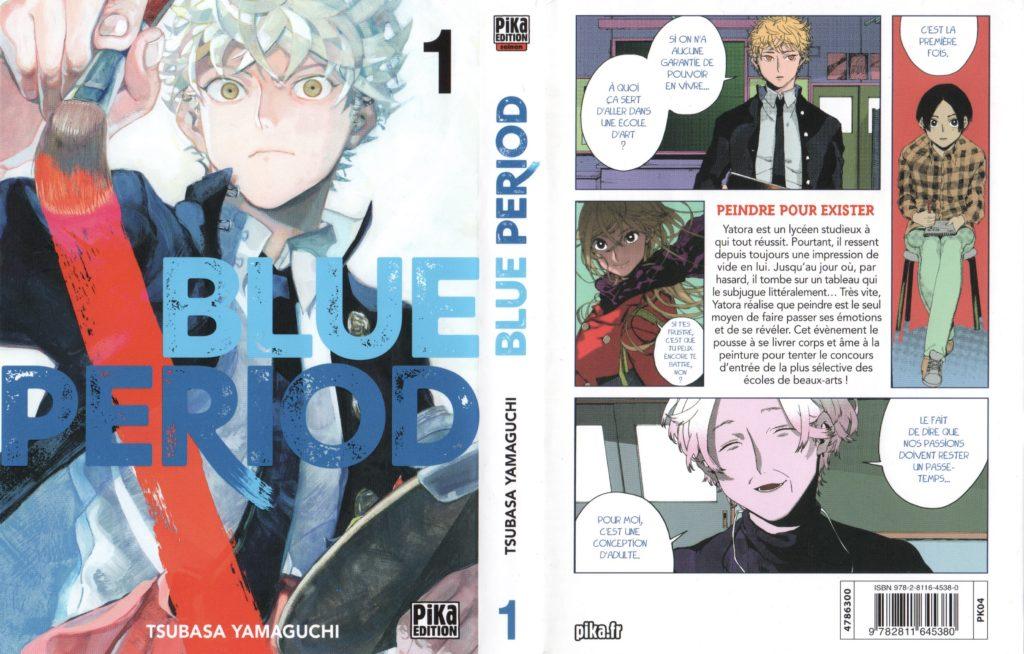 Couverture Blue Period tome 1 Pika Editions Tsubasa Yamaguchi Les Trésors du Nain Avis Review Critique