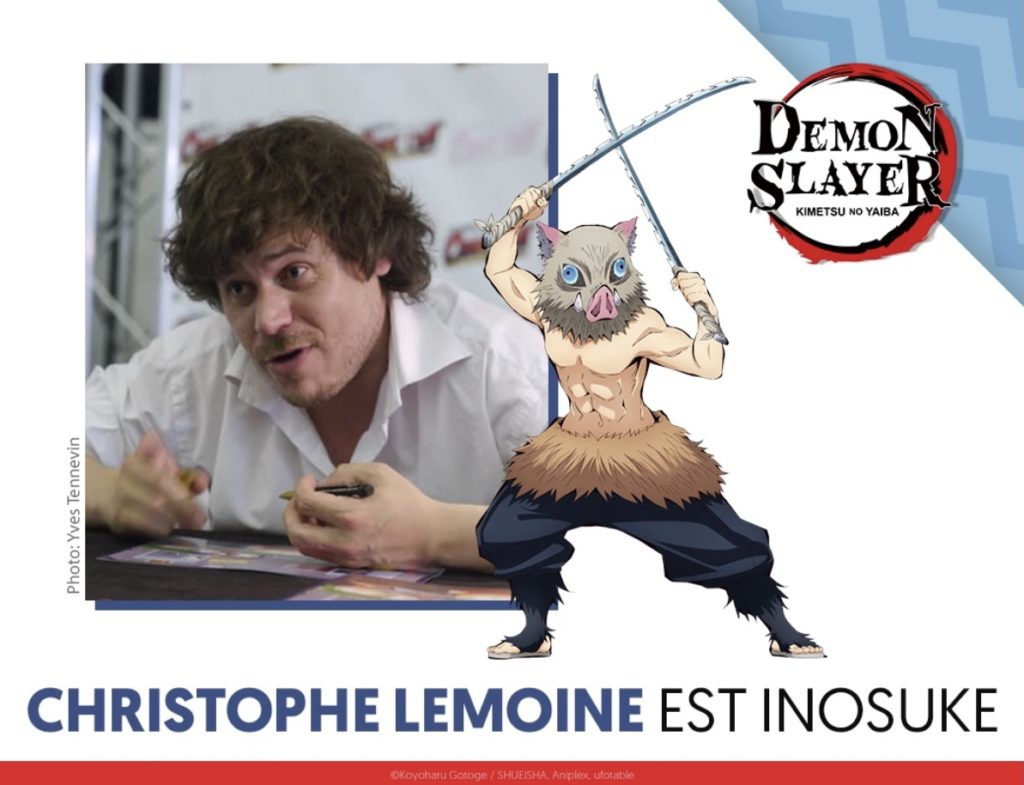 VF Inosuke Demon Slayer Christophe Lemoine Wakanim