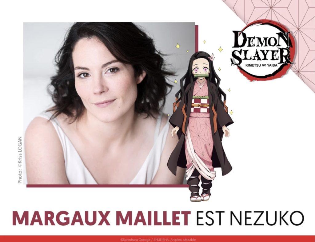 VF Nezuko Demon Slayer Margaux Maillet Wakanim