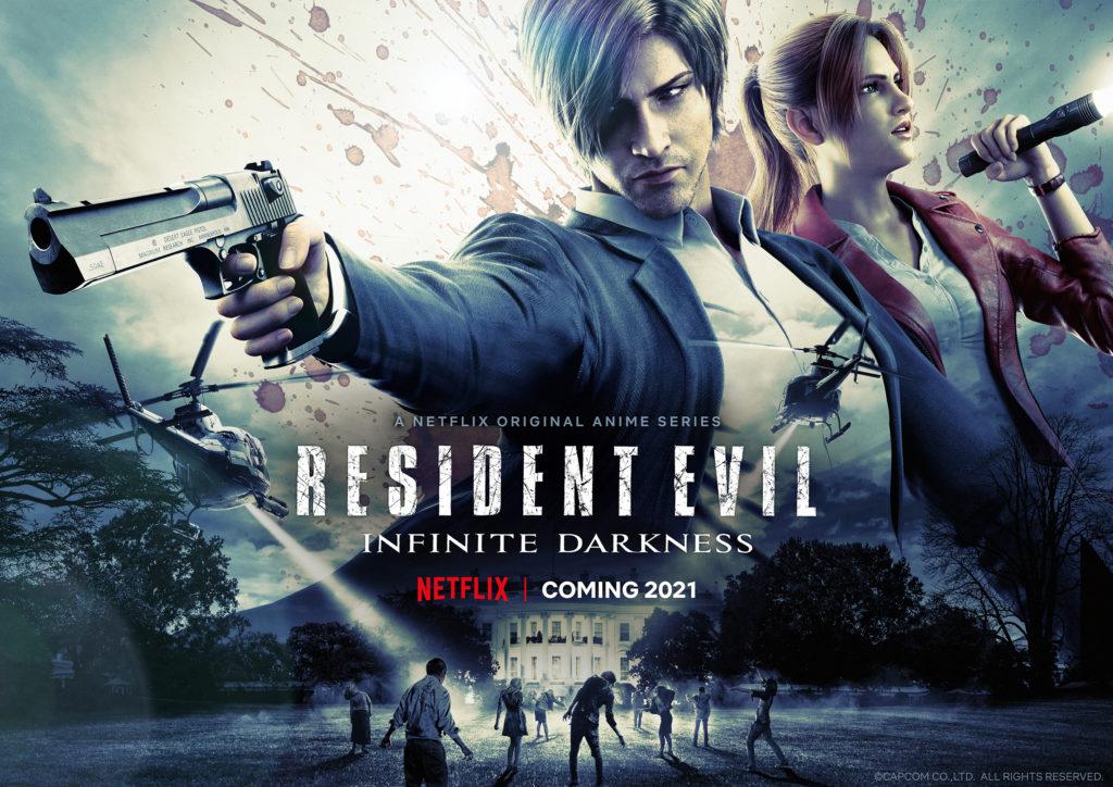 Biohazard Infinite Darkness Resident Evil Infinite Darkness Netflix anime série 2021 Nick Apostolides Stephanie Panisello Resident Evil 2 Remake