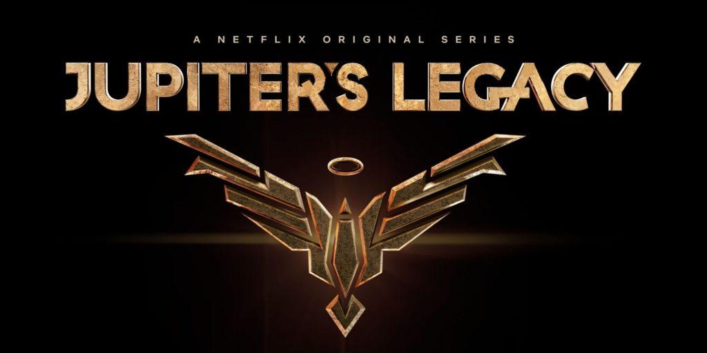 Netflix Teaser Visuel Mark Millar Jupiter's Legacy Super-héros Série Date Sortie 7 mai 2021 Logo
