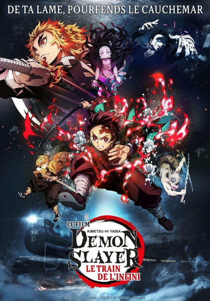 Kimetsu no Yaiba demon slayer le train de l'infini date sortie VF VOSTFR cinéma français France