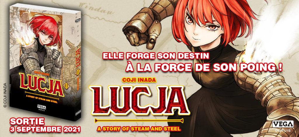 Extrait Lucja A story of steam and steel Vega Dupuis Koutetsu no Lucja Date de Sortie 3 septembre VF