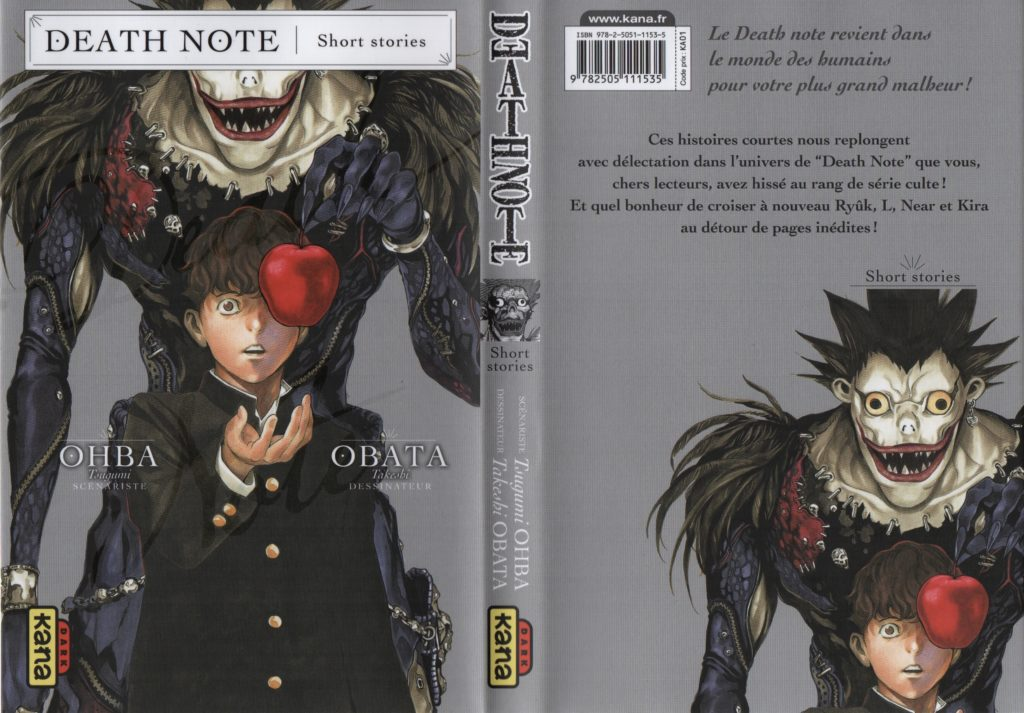 Les Trésors du Nain Death Note Short Stories Minoru Tanaka Ryuk Tsugumi Oba Takeshi Obata Kana Editions Cover
