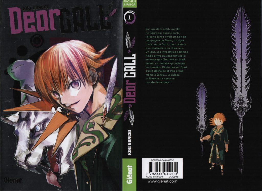 Dear Call Tome 1 Kiri Gunchi Glénat éditions Manga Avis Review Critique Les Trésors du Nain Shonen Nekketsu Couverture Jaquette