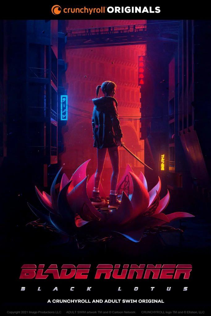 Crunchyroll Adult Swim Collaboration Coproduction Blade Runner 2049 Blade Runner Black Lotus Blade Runner Black Out 2022 Trailer Bande-annonce Affiche promotionnelle visuel Date Sortie Automne 2021