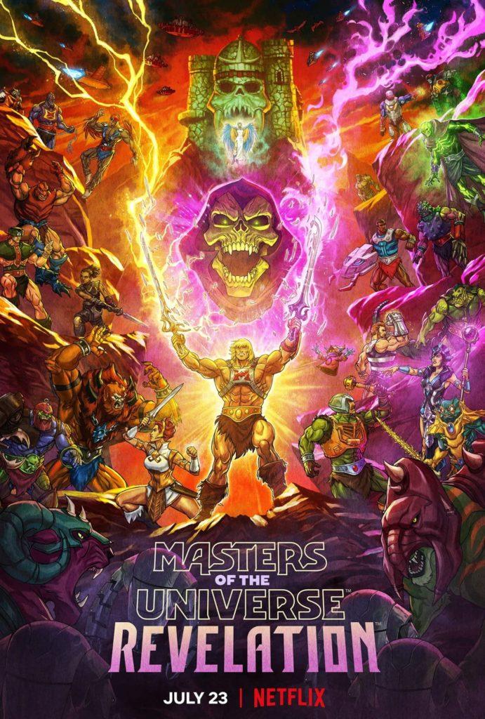 Masters of The Universe Revelation Série Animation Anime Musclor Skeletor He-Man Grayskull Kevin Smith Netflix Mark Hamill Lena Headey