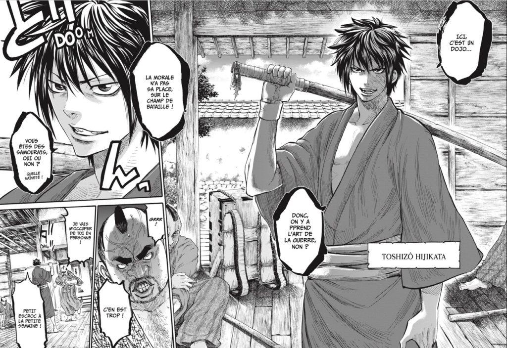 Chiruran Shinsen Gumi Requiem Tome 1 Avis Review Critique Mangetsu Manga Shonen Samourai Extrait VF